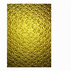 Patterns Gold Textures Small Garden Flag (two Sides) by Simbadda