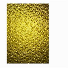Patterns Gold Textures Large Garden Flag (two Sides) by Simbadda