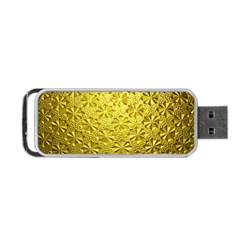 Patterns Gold Textures Portable Usb Flash (two Sides) by Simbadda