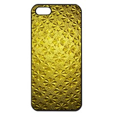 Patterns Gold Textures Apple Iphone 5 Seamless Case (black) by Simbadda