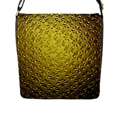 Patterns Gold Textures Flap Messenger Bag (l)  by Simbadda