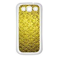 Patterns Gold Textures Samsung Galaxy S3 Back Case (white)