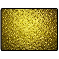 Patterns Gold Textures Double Sided Fleece Blanket (large)  by Simbadda