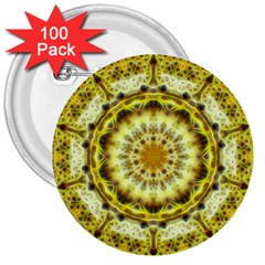 Fractal Flower 3  Buttons (100 Pack)  by Simbadda