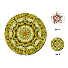 Fractal Flower Playing Cards (round)  by Simbadda