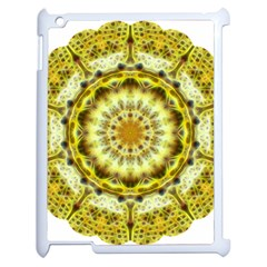 Fractal Flower Apple Ipad 2 Case (white) by Simbadda