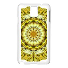 Fractal Flower Samsung Galaxy Note 3 N9005 Case (white) by Simbadda