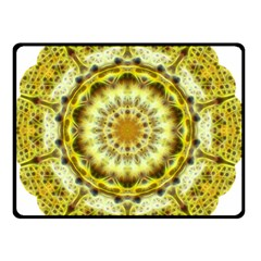 Fractal Flower Double Sided Fleece Blanket (small)  by Simbadda