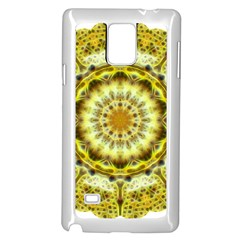 Fractal Flower Samsung Galaxy Note 4 Case (white) by Simbadda
