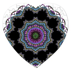 Fractal Lace Jigsaw Puzzle (heart)