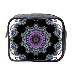 Fractal Lace Mini Toiletries Bag 2 Side by Simbadda