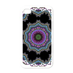 Fractal Lace Apple Iphone 4 Case (white)