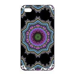 Fractal Lace Apple Iphone 4/4s Seamless Case (black) by Simbadda
