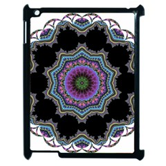 Fractal Lace Apple Ipad 2 Case (black) by Simbadda