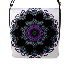 Fractal Lace Flap Messenger Bag (l)