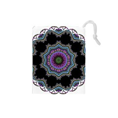 Fractal Lace Drawstring Pouches (small)  by Simbadda