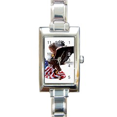Independence Day United States Rectangle Italian Charm Watch by Simbadda