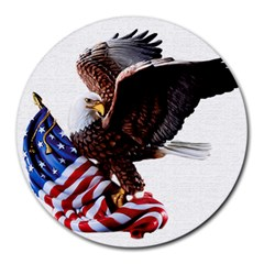 Independence Day United States Round Mousepads by Simbadda