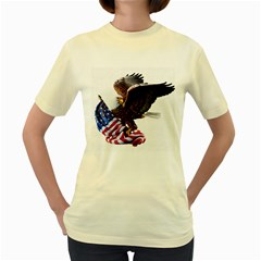 Independence Day United States Women s Yellow T Shirt by Simbadda