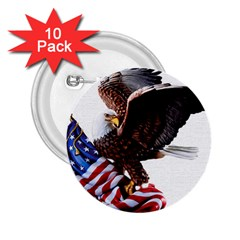 Independence Day United States 2 25  Buttons (10 Pack)  by Simbadda