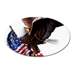 Independence Day United States Oval Magnet by Simbadda