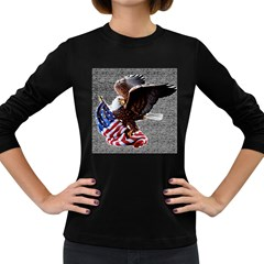 Independence Day United States Women s Long Sleeve Dark T Shirts by Simbadda