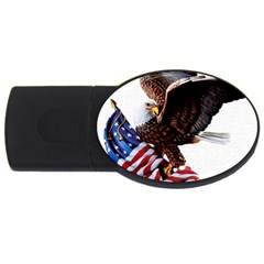 Independence Day United States Usb Flash Drive Oval (4 Gb) by Simbadda