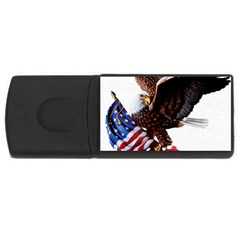 Independence Day United States Usb Flash Drive Rectangular (4 Gb) by Simbadda