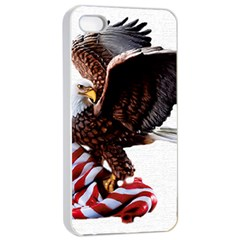 Independence Day United States Apple Iphone 4/4s Seamless Case (white) by Simbadda