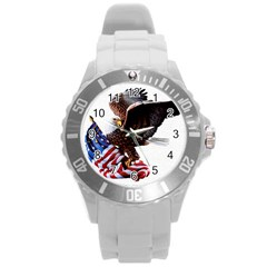Independence Day United States Round Plastic Sport Watch (l) by Simbadda