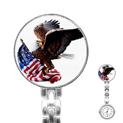Independence Day United States Stainless Steel Nurses Watch by Simbadda