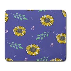 Floral Flower Rose Sunflower Star Leaf Pink Green Blue Yelllow Large Mousepads