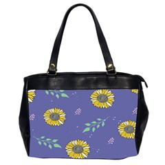 Floral Flower Rose Sunflower Star Leaf Pink Green Blue Yelllow Office Handbags (2 Sides)  by Alisyart