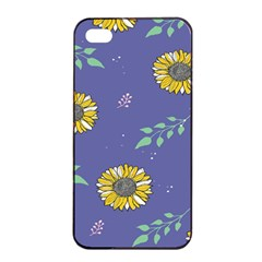 Floral Flower Rose Sunflower Star Leaf Pink Green Blue Yelllow Apple Iphone 4/4s Seamless Case (black) by Alisyart
