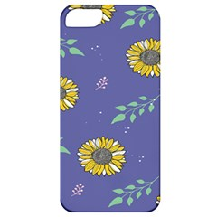 Floral Flower Rose Sunflower Star Leaf Pink Green Blue Yelllow Apple Iphone 5 Classic Hardshell Case