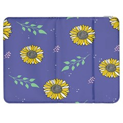 Floral Flower Rose Sunflower Star Leaf Pink Green Blue Yelllow Samsung Galaxy Tab 7  P1000 Flip Case