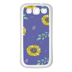 Floral Flower Rose Sunflower Star Leaf Pink Green Blue Yelllow Samsung Galaxy S3 Back Case (white)