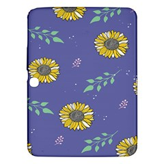 Floral Flower Rose Sunflower Star Leaf Pink Green Blue Yelllow Samsung Galaxy Tab 3 (10 1 ) P5200 Hardshell Case