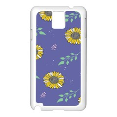 Floral Flower Rose Sunflower Star Leaf Pink Green Blue Yelllow Samsung Galaxy Note 3 N9005 Case (white) by Alisyart