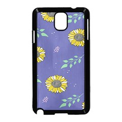 Floral Flower Rose Sunflower Star Leaf Pink Green Blue Yelllow Samsung Galaxy Note 3 Neo Hardshell Case (black) by Alisyart