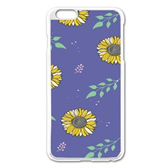 Floral Flower Rose Sunflower Star Leaf Pink Green Blue Yelllow Apple Iphone 6 Plus/6s Plus Enamel White Case by Alisyart