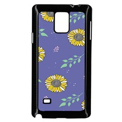 Floral Flower Rose Sunflower Star Leaf Pink Green Blue Yelllow Samsung Galaxy Note 4 Case (black) by Alisyart