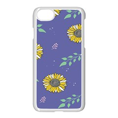 Floral Flower Rose Sunflower Star Leaf Pink Green Blue Yelllow Apple Iphone 7 Seamless Case (white) by Alisyart