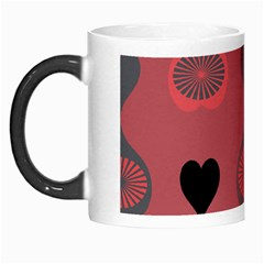 Heart Love Fan Circle Pink Blue Black Orange Morph Mugs by Alisyart