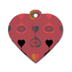 Heart Love Fan Circle Pink Blue Black Orange Dog Tag Heart (two Sides) by Alisyart