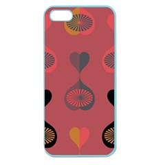 Heart Love Fan Circle Pink Blue Black Orange Apple Seamless Iphone 5 Case (color)