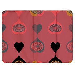 Heart Love Fan Circle Pink Blue Black Orange Samsung Galaxy Tab 7  P1000 Flip Case by Alisyart