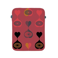 Heart Love Fan Circle Pink Blue Black Orange Apple Ipad 2/3/4 Protective Soft Cases by Alisyart