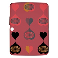 Heart Love Fan Circle Pink Blue Black Orange Samsung Galaxy Tab 3 (10 1 ) P5200 Hardshell Case  by Alisyart