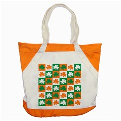 Ireland Leaf Vegetables Green Orange White Accent Tote Bag by Alisyart